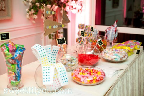 old fashioned wedding candy buffet baseball vintage unique