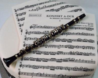 Tarta concierto para clarinete