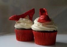 Cupcakes con zapatos de purpurina