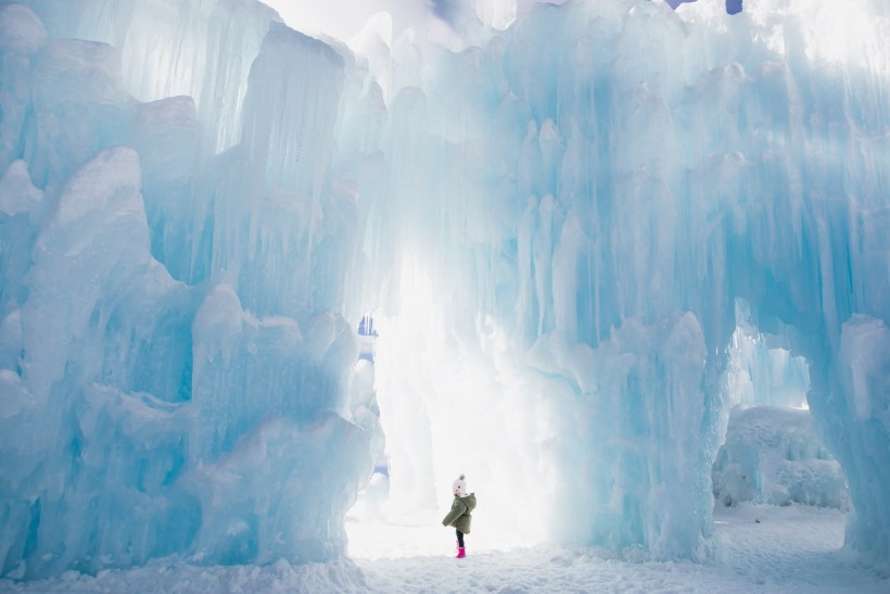 Dillon Ice Castles is one of the top things to do for Christmas in Colorado