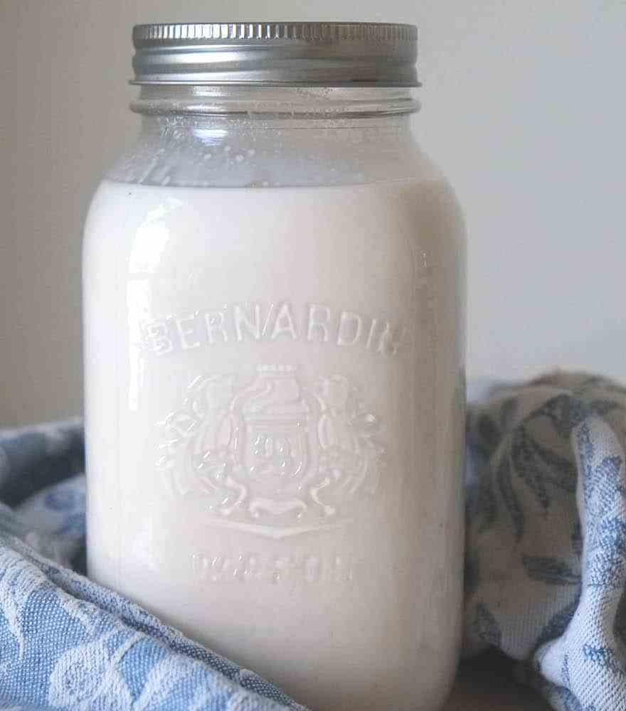 bottle of almond milk. Creamy and delicious #vegan #paleo