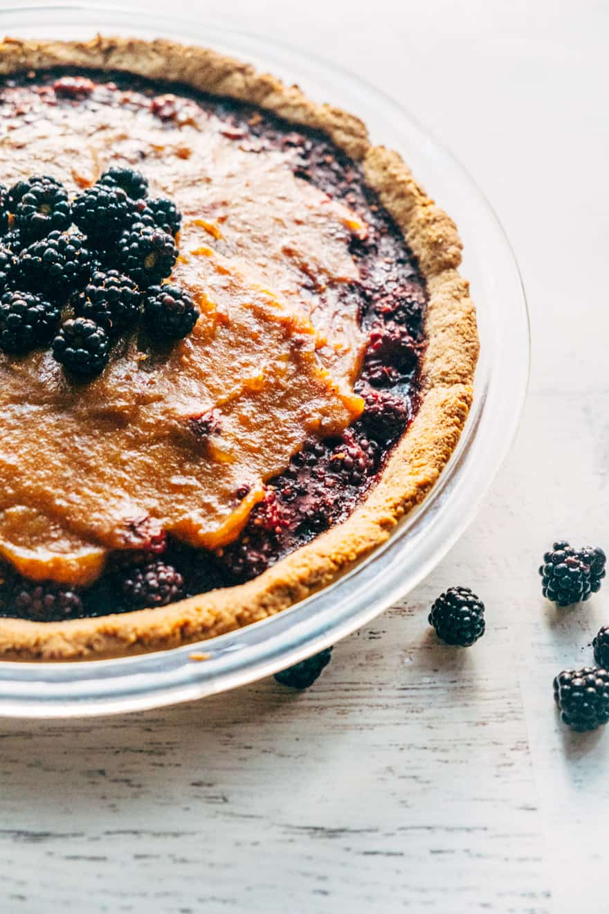 blackberry caramel pie #paleo #vegan #glutenfree