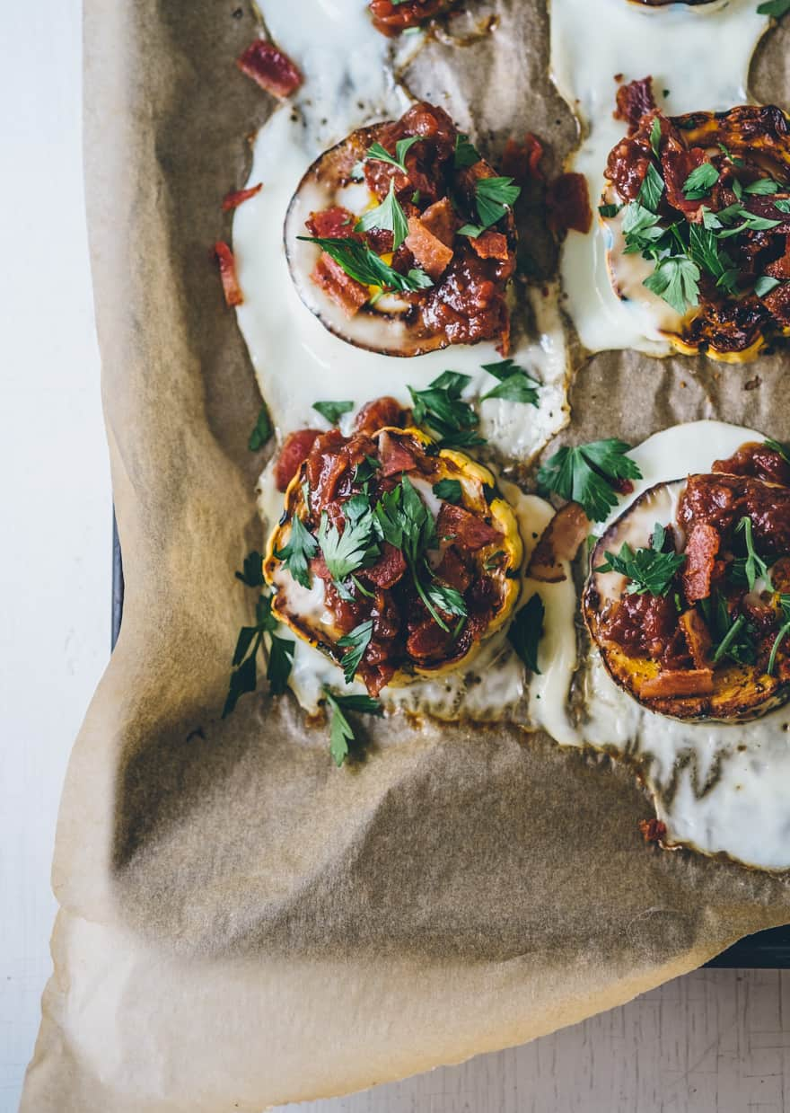 Roasted Delicata squash with eggs (whole30, paleo)