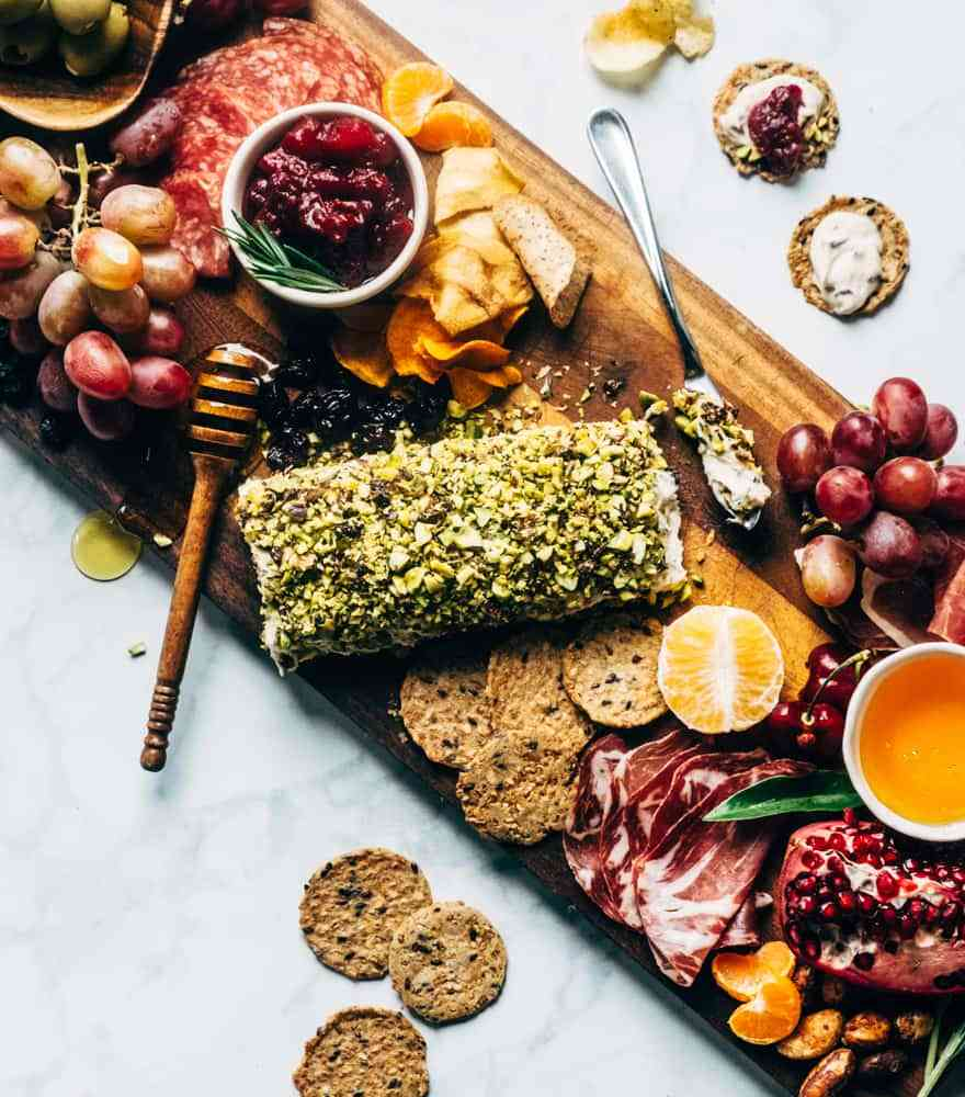 Holiday Gluten Free and Diary Free Snack Board