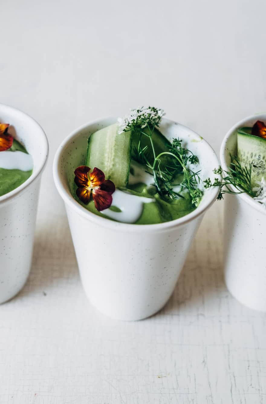 chilled green blender soup #paleo #vegan
