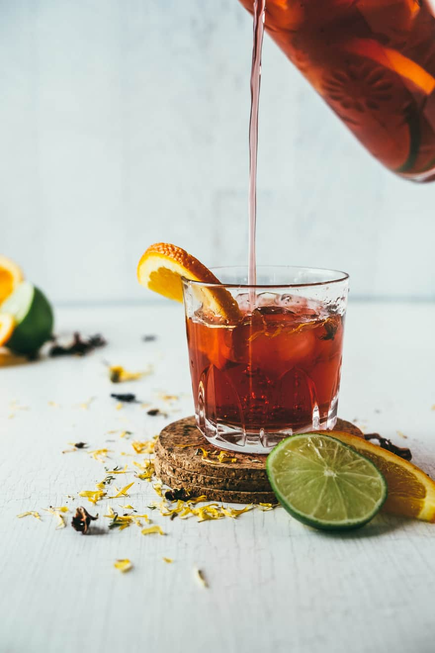 maple water herbal iced tea #recipe #tea