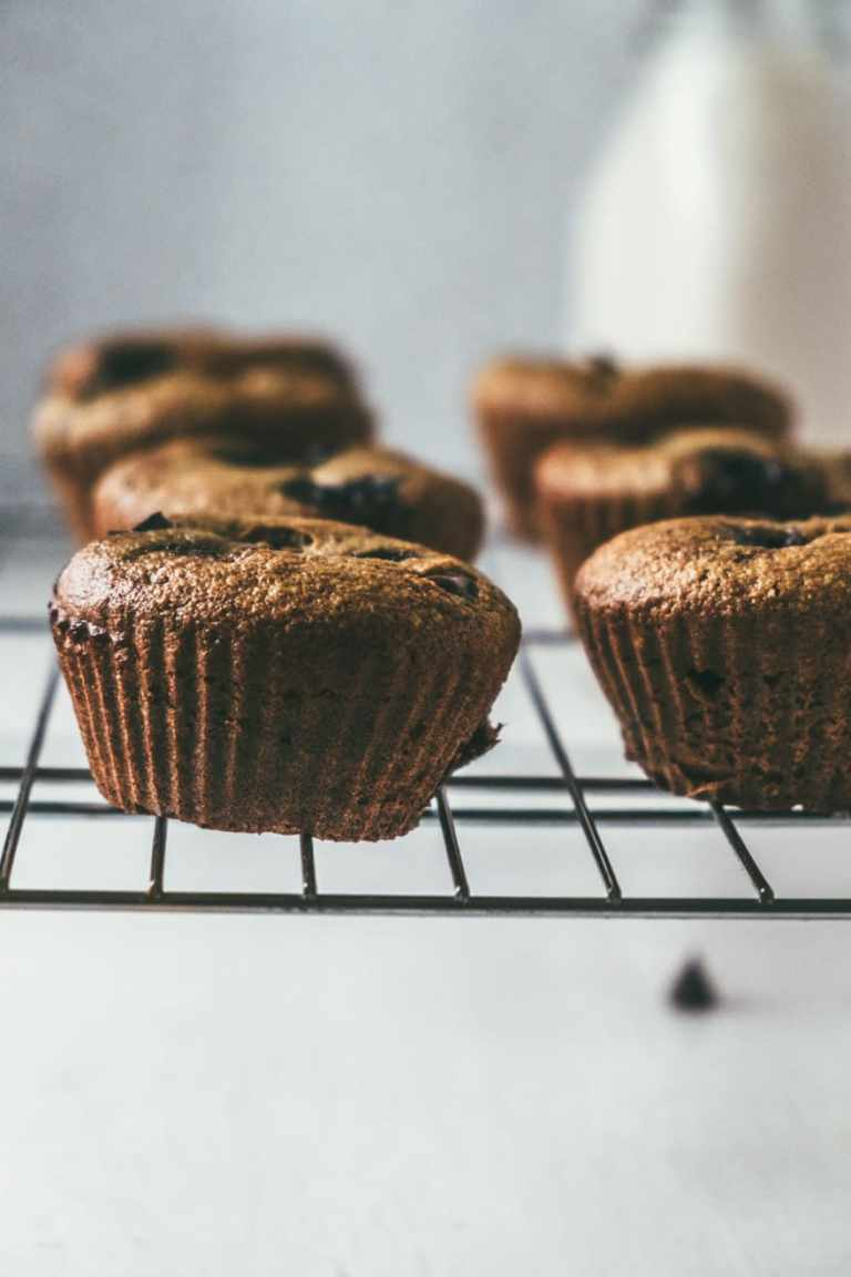 paleo chocolate chip cherry muffins