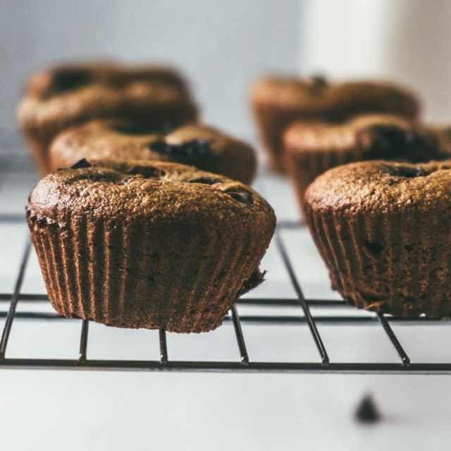 Paleo Cherry Chocolate Chip Muffins