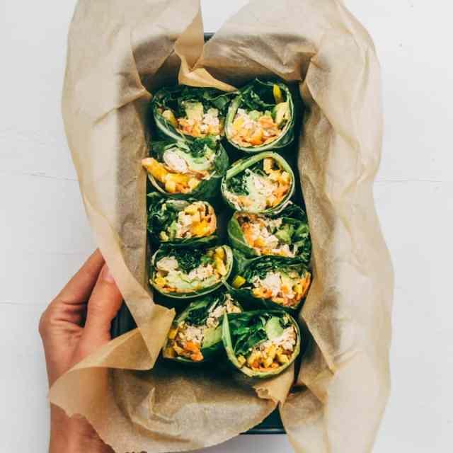 Thai Chicken Collard Wraps (Whole30, Paleo)