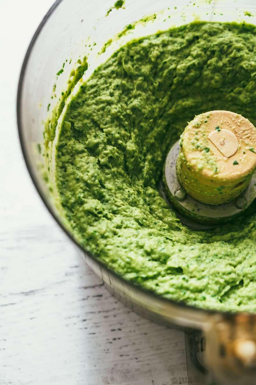 avocado cilantro hummus #vegan #healthy #recipe