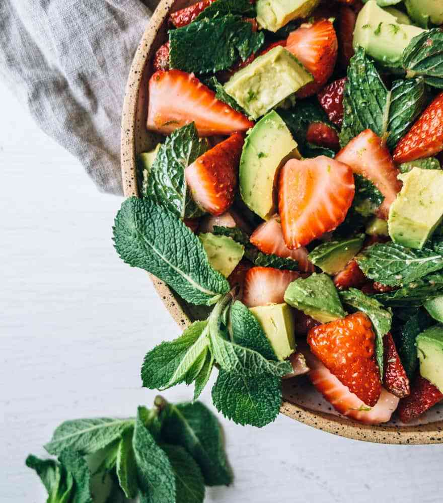 avocado strawberry salad #healthy