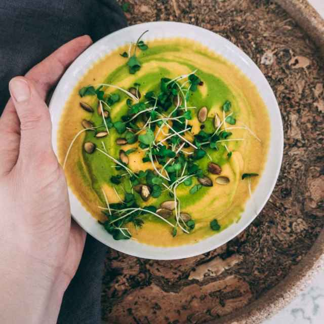 Green Butternut Squash Soup (Vegan, Paleo)