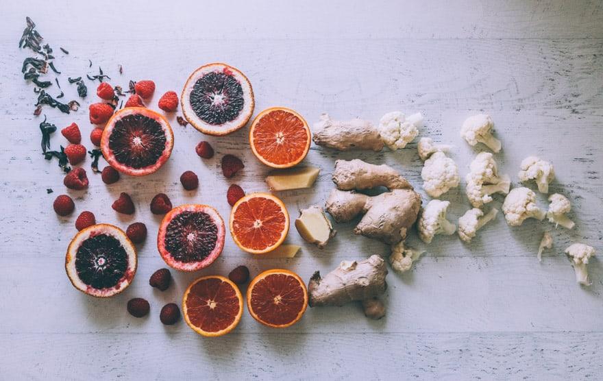 blood orange cauliflower smoothie #smoothie #vegan