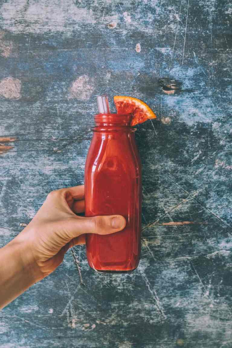 blood orange cauliflower smoothie #smoothie #vegan