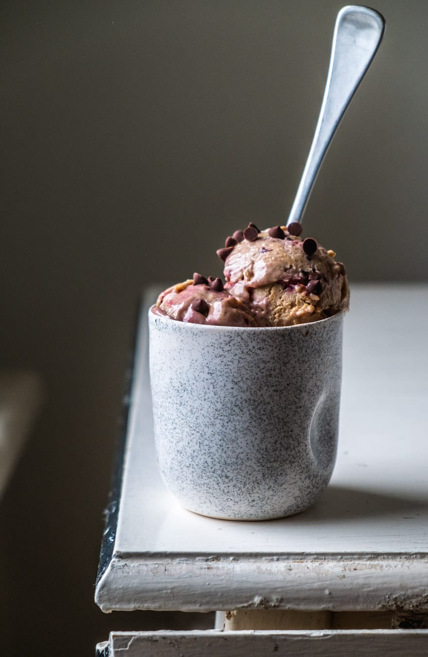 cherry miso cashew ice cream #vegan