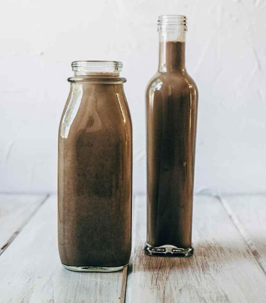 chocolate black sesame seed milk #vegan #paleo #healthy