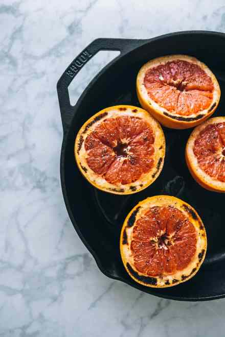 honey and rose broiled grapefruit #recipe #breakfast