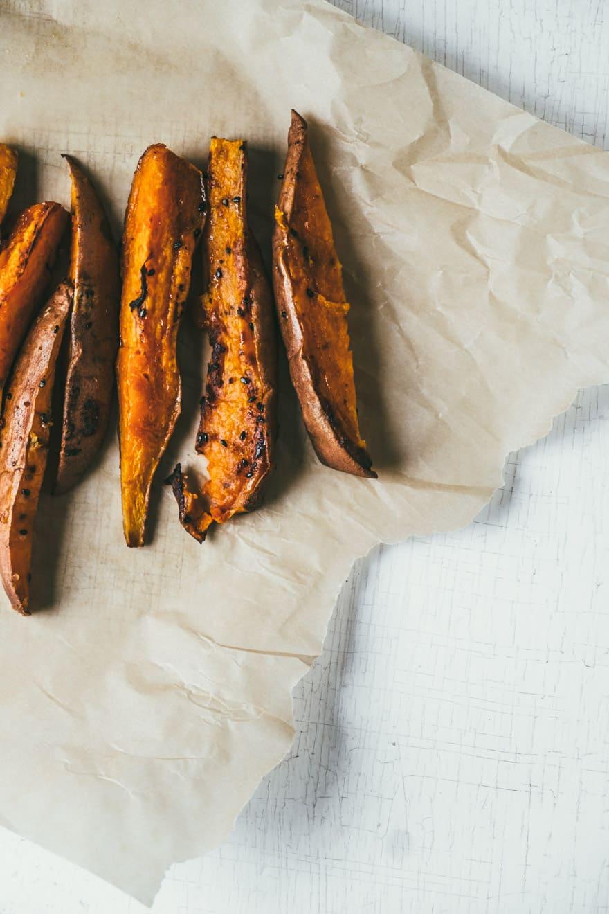miso roasted sweet potatoes