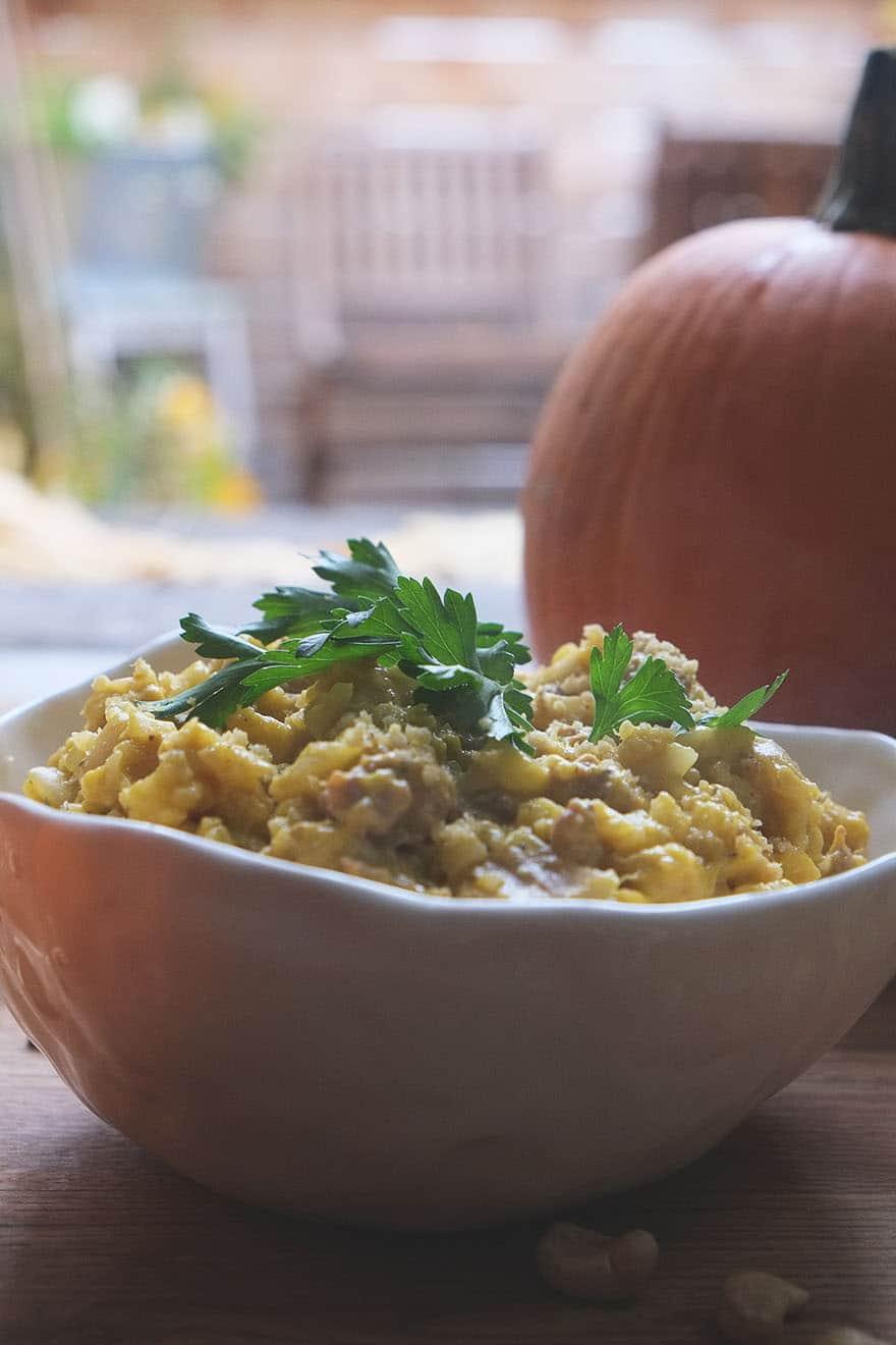 pumpkin cauliflower risotto #glutenfree #grainfree #paleo
