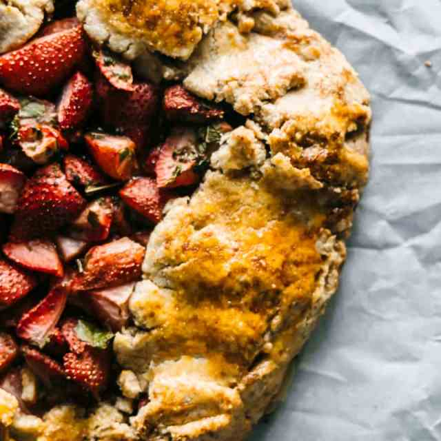 Strawberry and Lemon Verbena Galette (paleo)