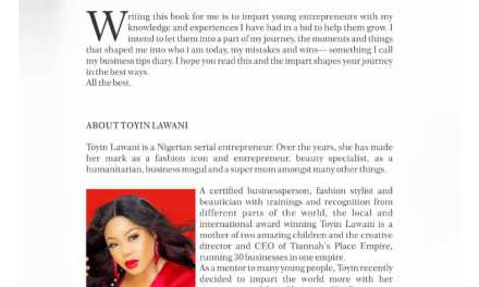 Toyin Lawani Releases New Book 'Be Unstoppable' Sharing Her Business Mogul's Guide