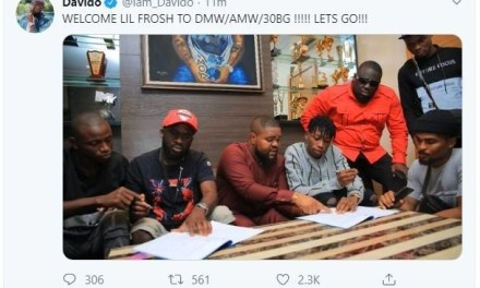 """Davido Signs New Artiste """"Lil Frosh"""" Into DMW Record Label – What Do You Think About This?"""