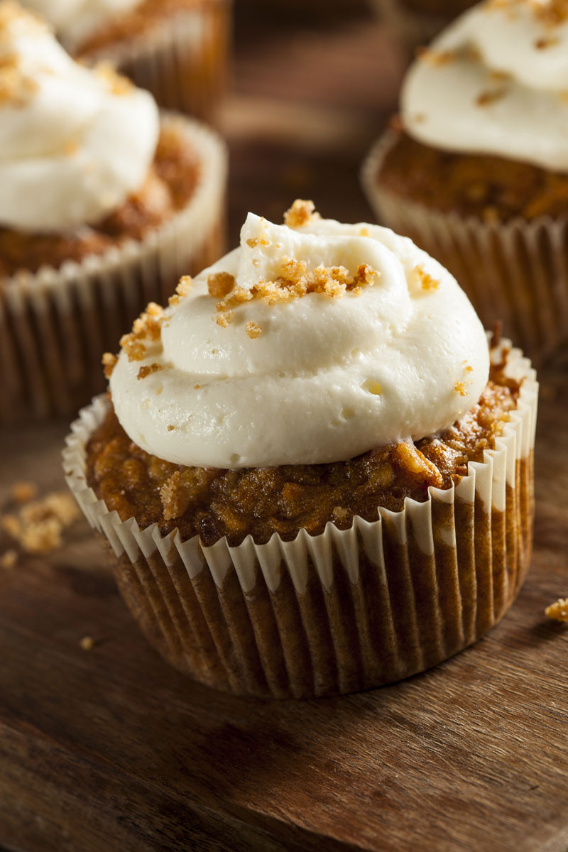 SWEETLY Carrot Muffins with Cream Cheese Frosting