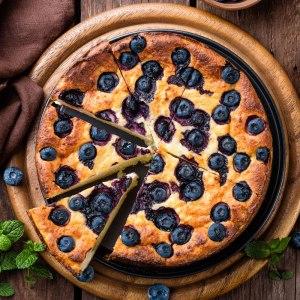 SWEETLY Blueberry Baked Cheesecake