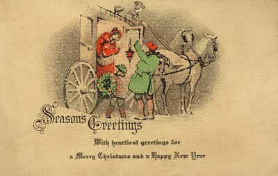 Christmas Vintage Postcards 1920 And Earlier Sweetly