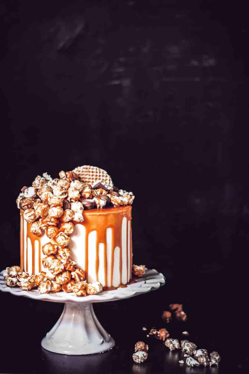 layer cake cheesecake au caramel au beurre salé