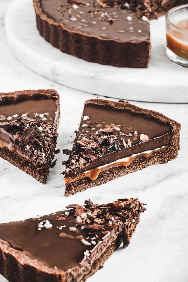 Salted caramel chocolat tart recipe