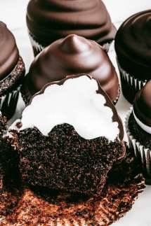 Cupcakes chocolat et marshmallow fluff