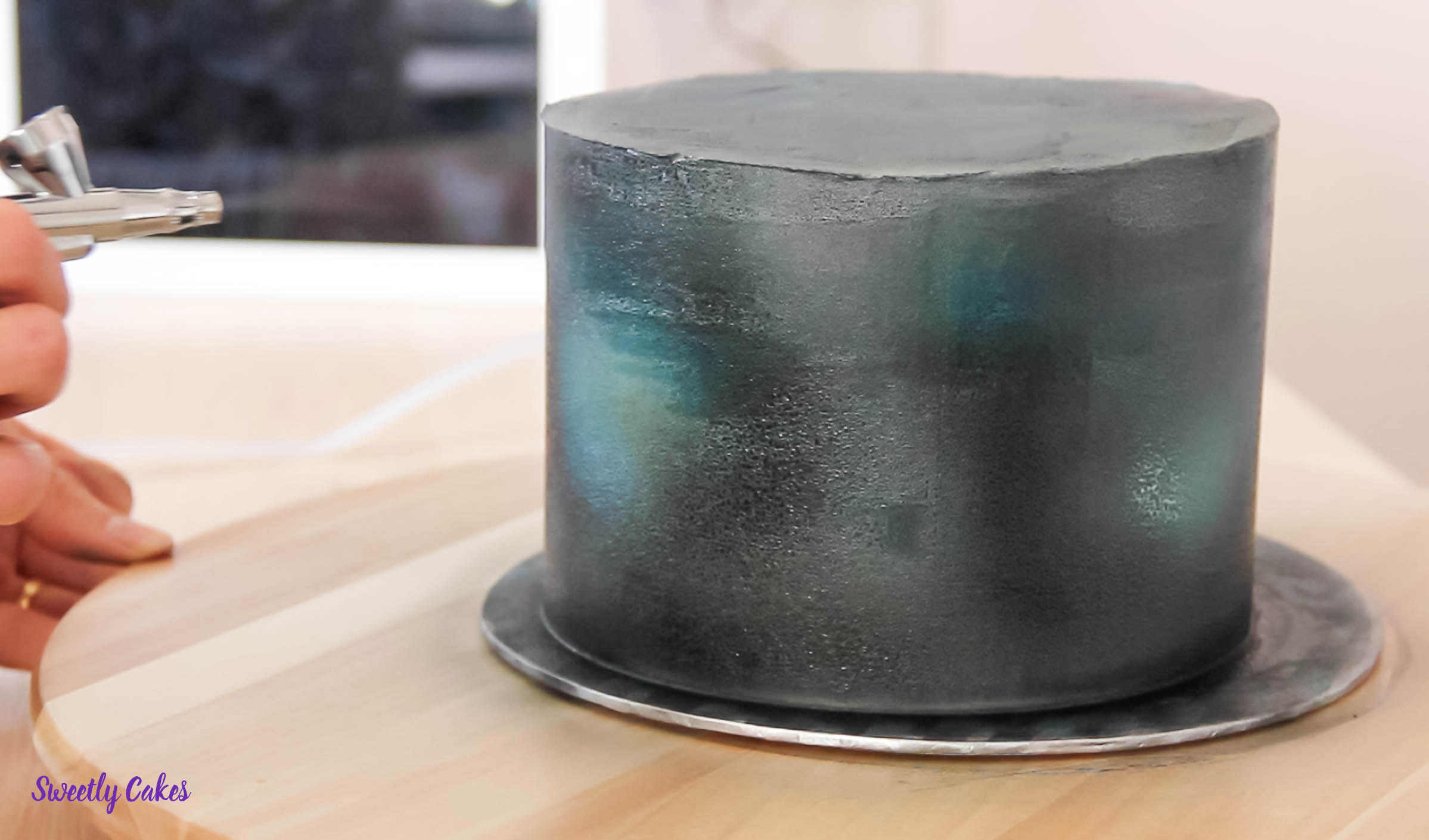glaçage gâteau bleu