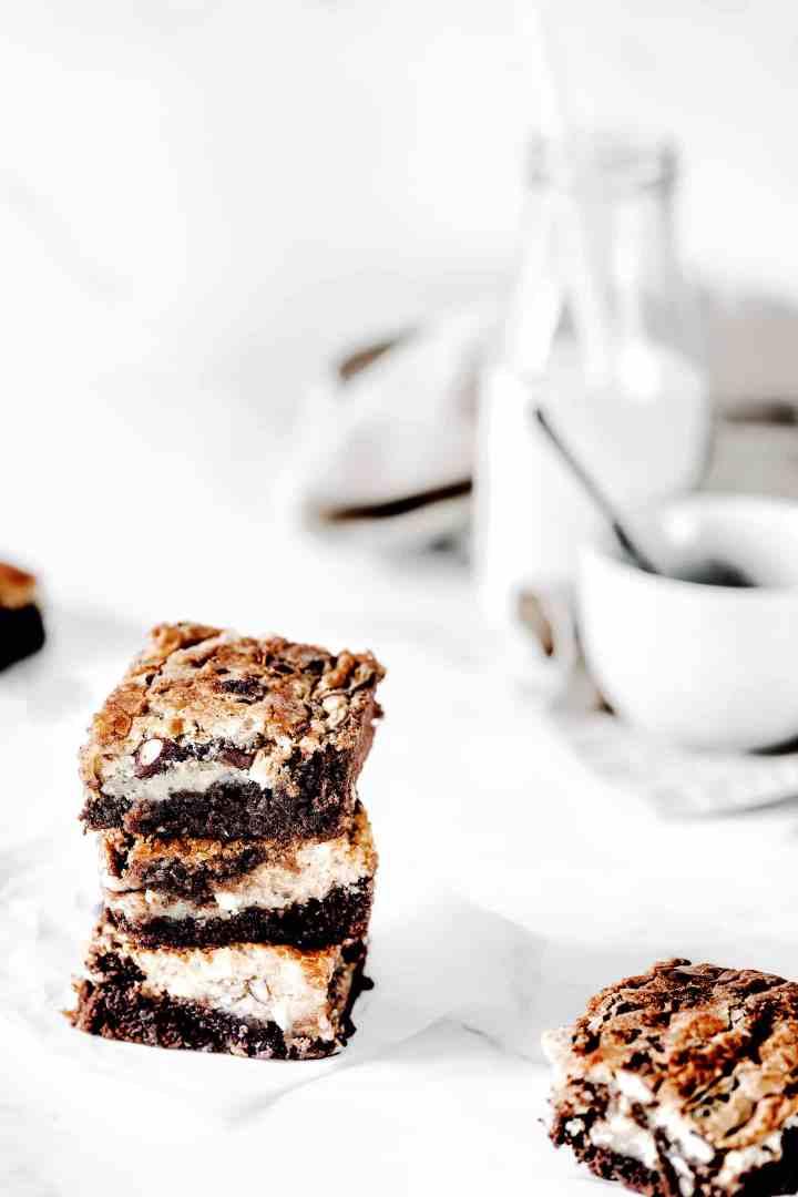 Brownies au chocolat fondant marbré