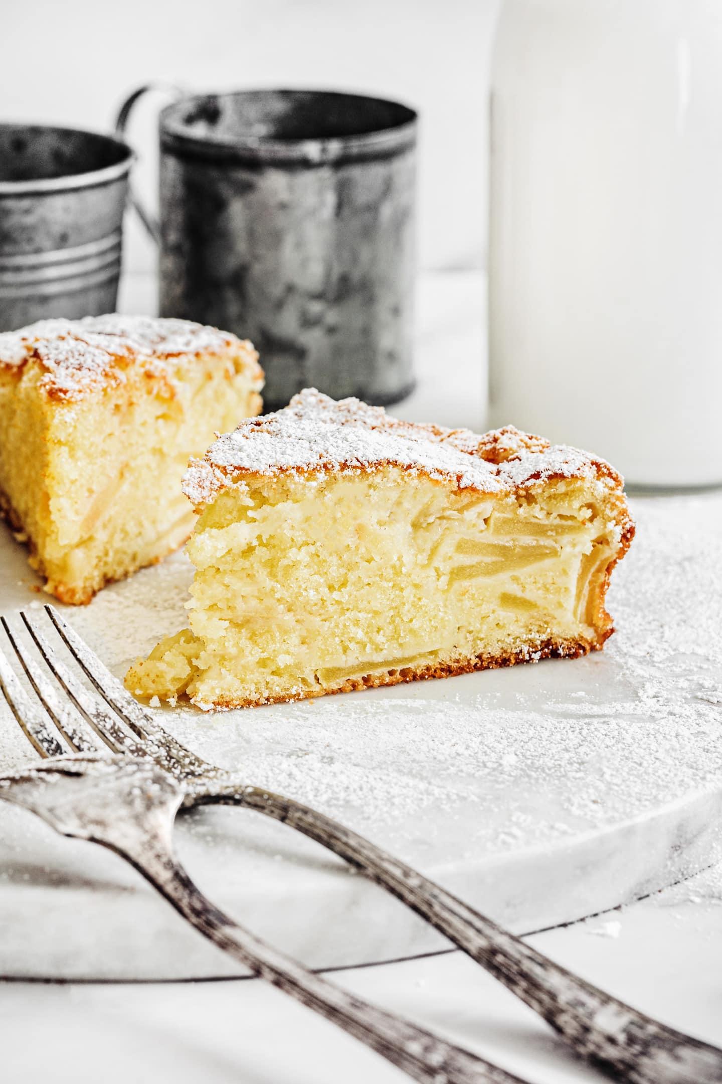 Gâteau aux pommes fondantes