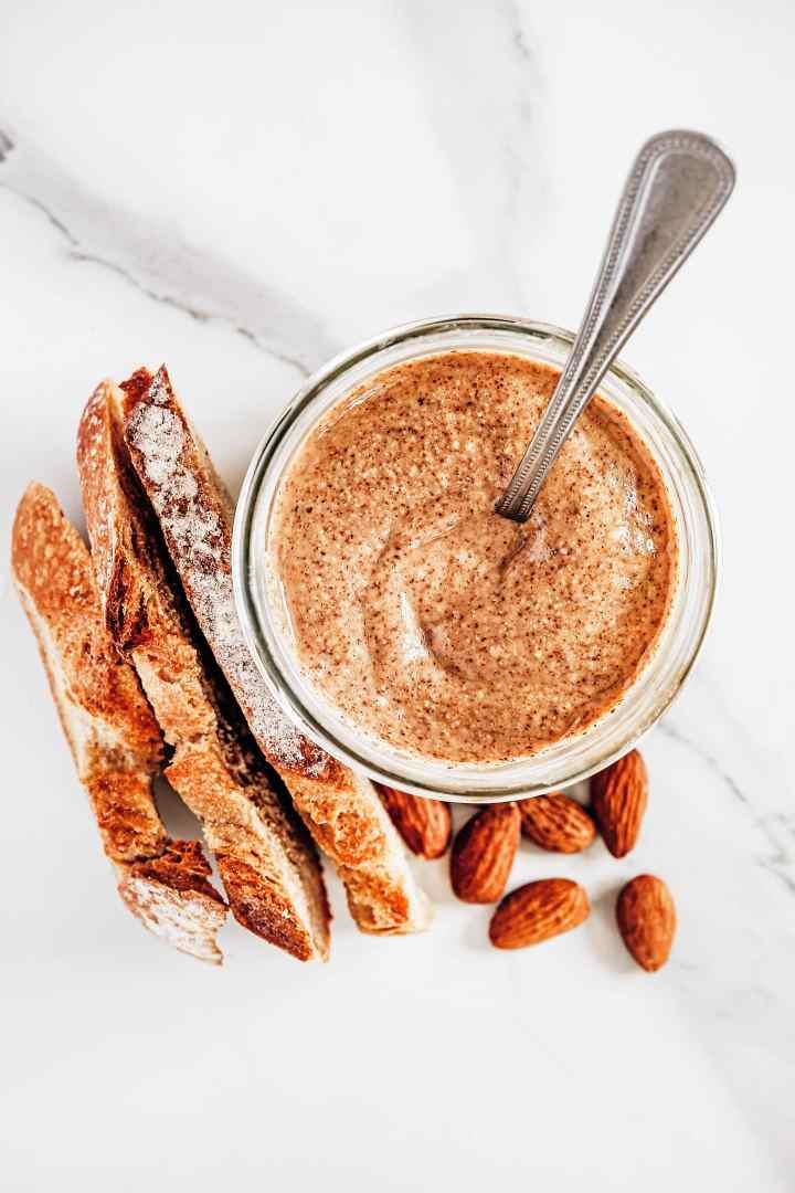 Homemade almond butter sugar free