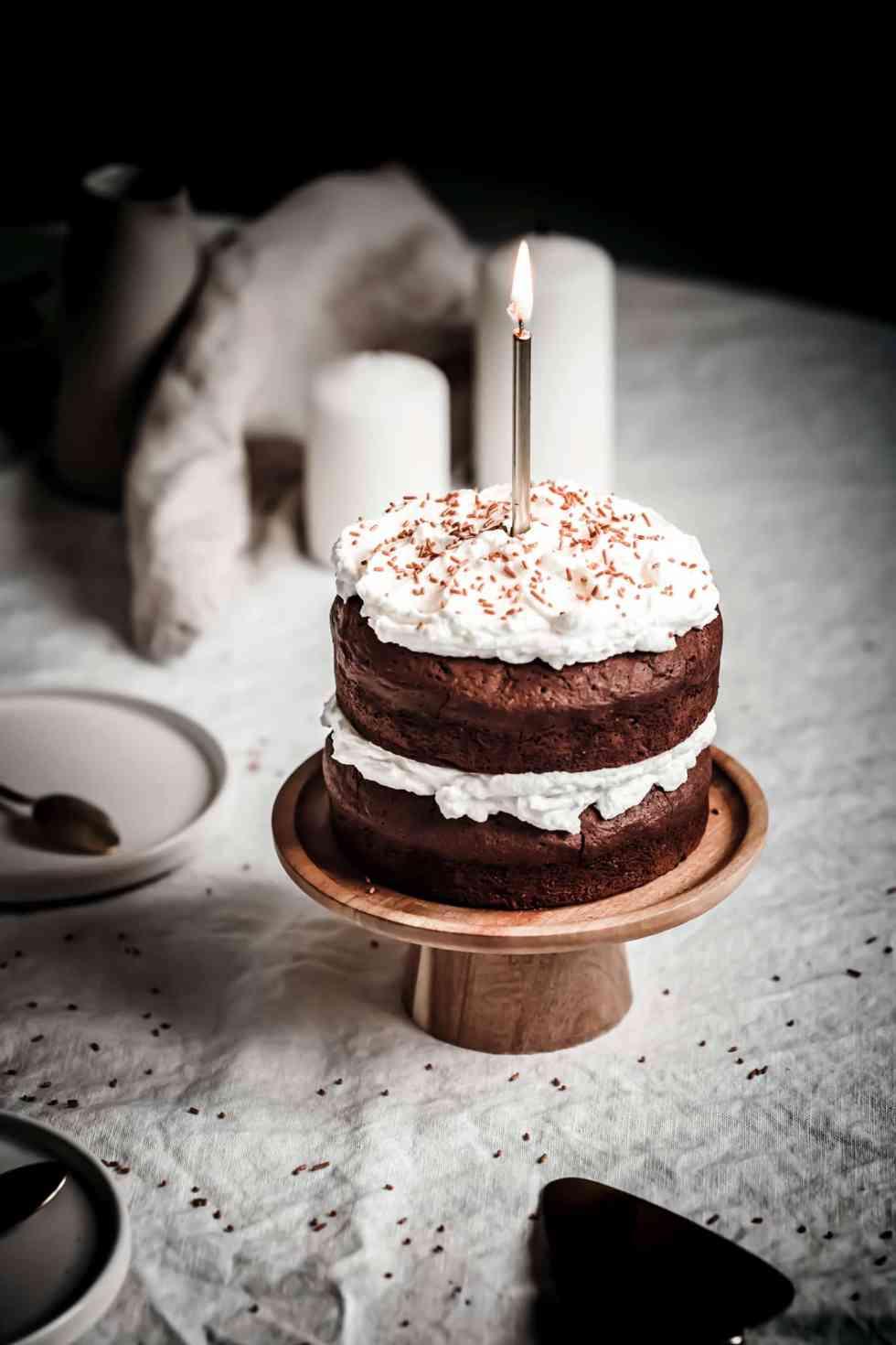 Layer cake brownie et chantilly mascarpone