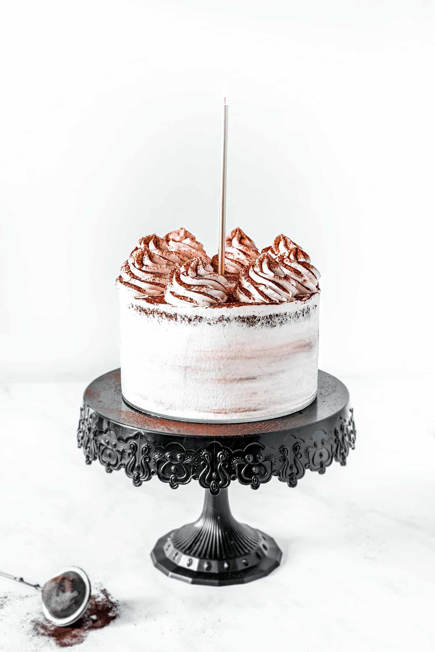 Layer cake chocolat et ganache montée