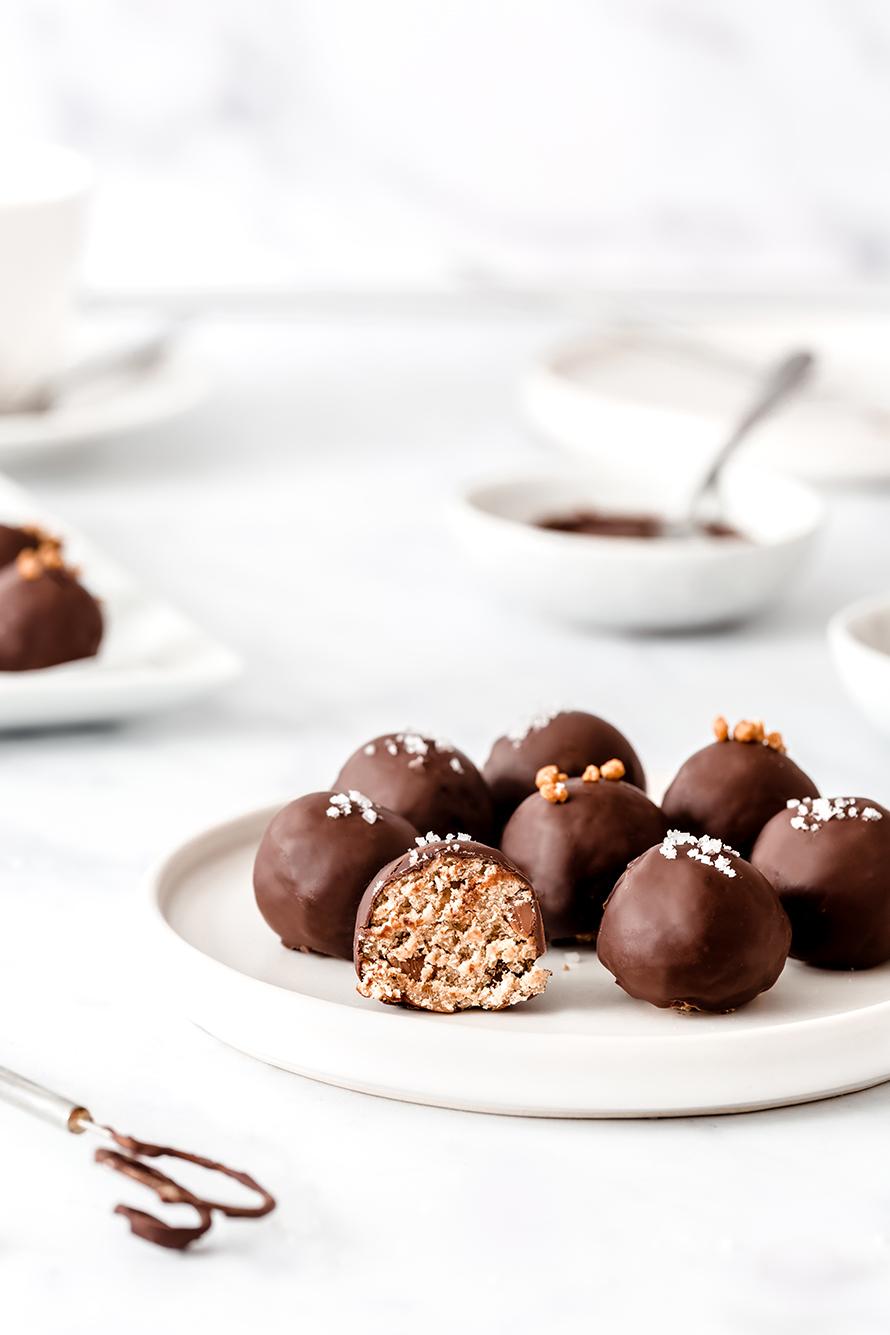 Truffes aux flocons d'avoine et pépites de chocolat