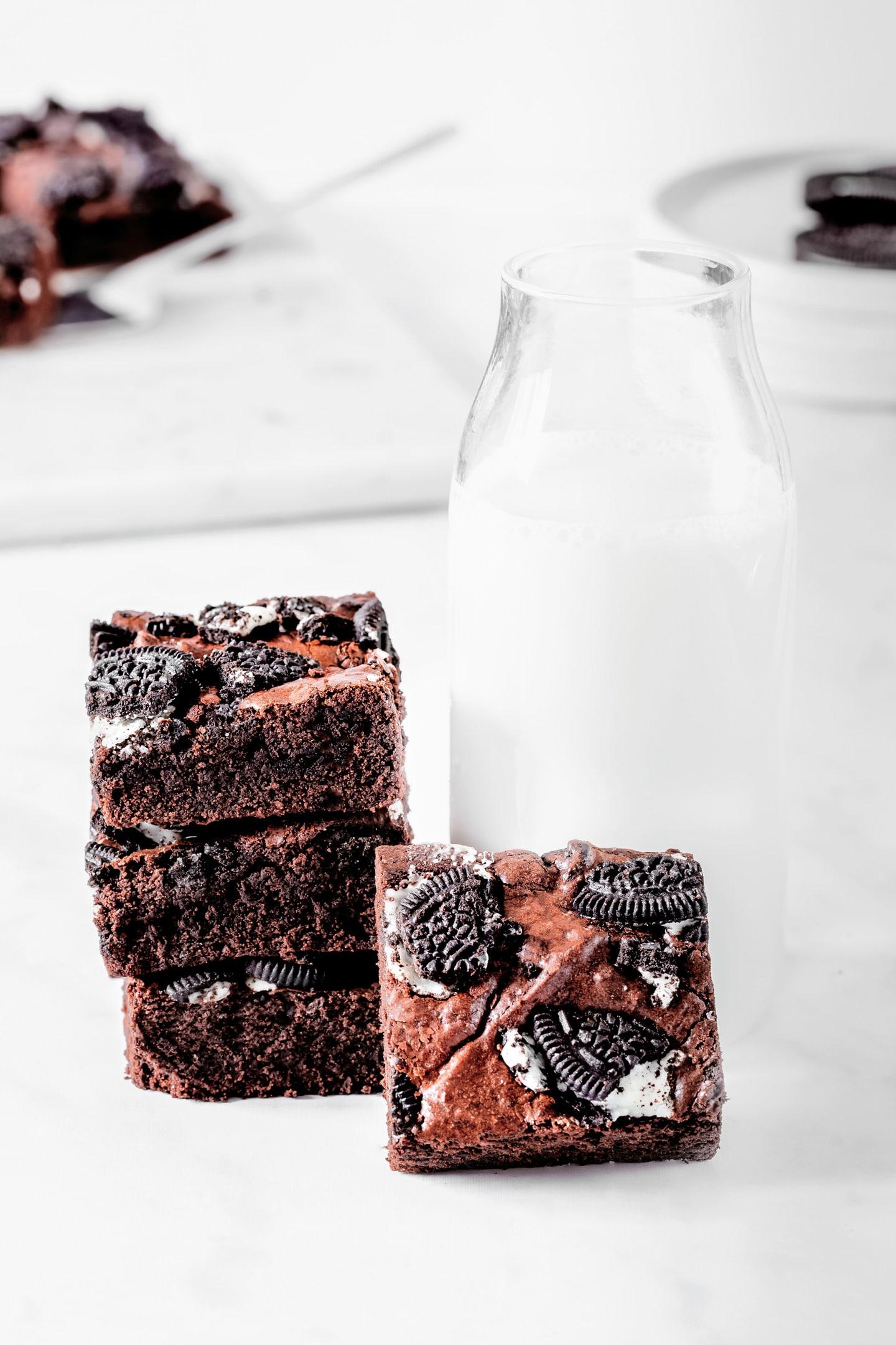 Brownie chocolat oreo