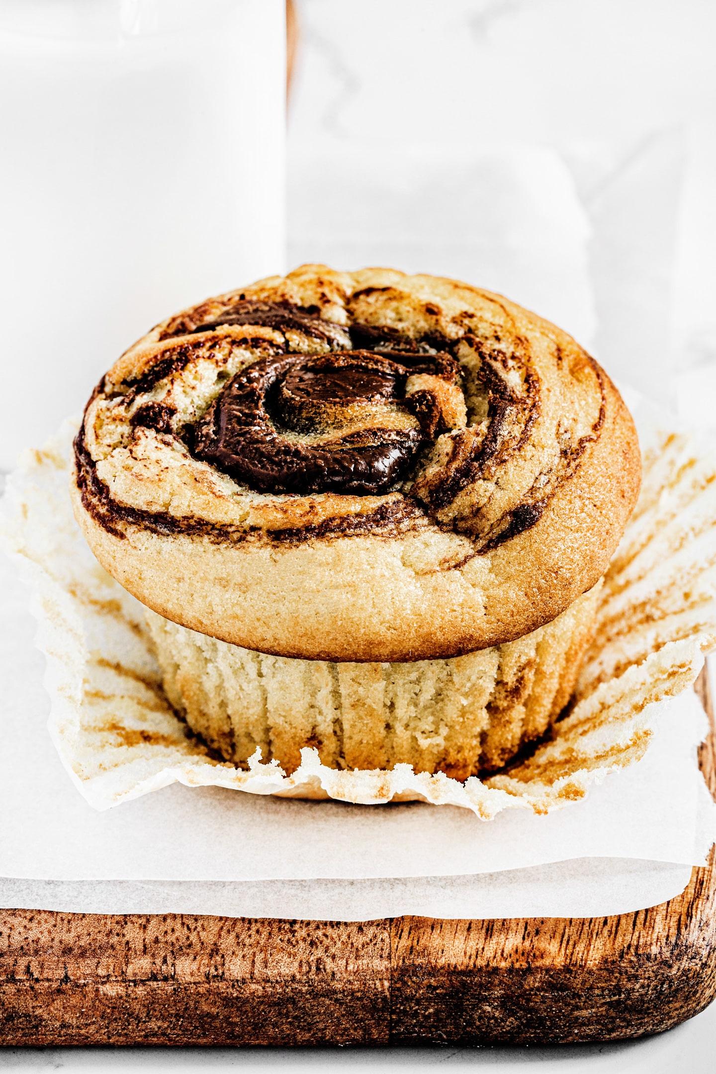 Fluffy nutella muffins recipe
