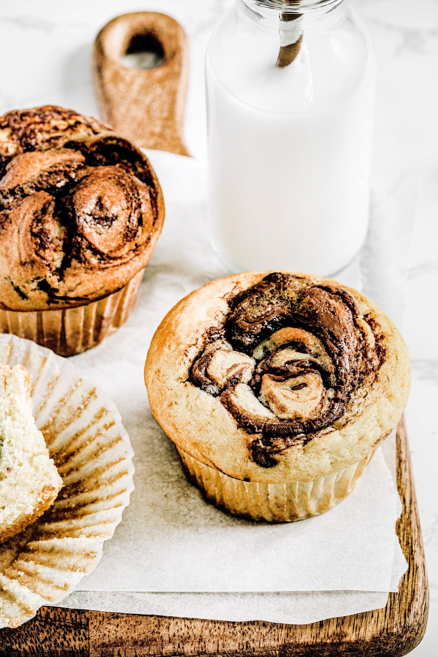 Nutella swirl muffins