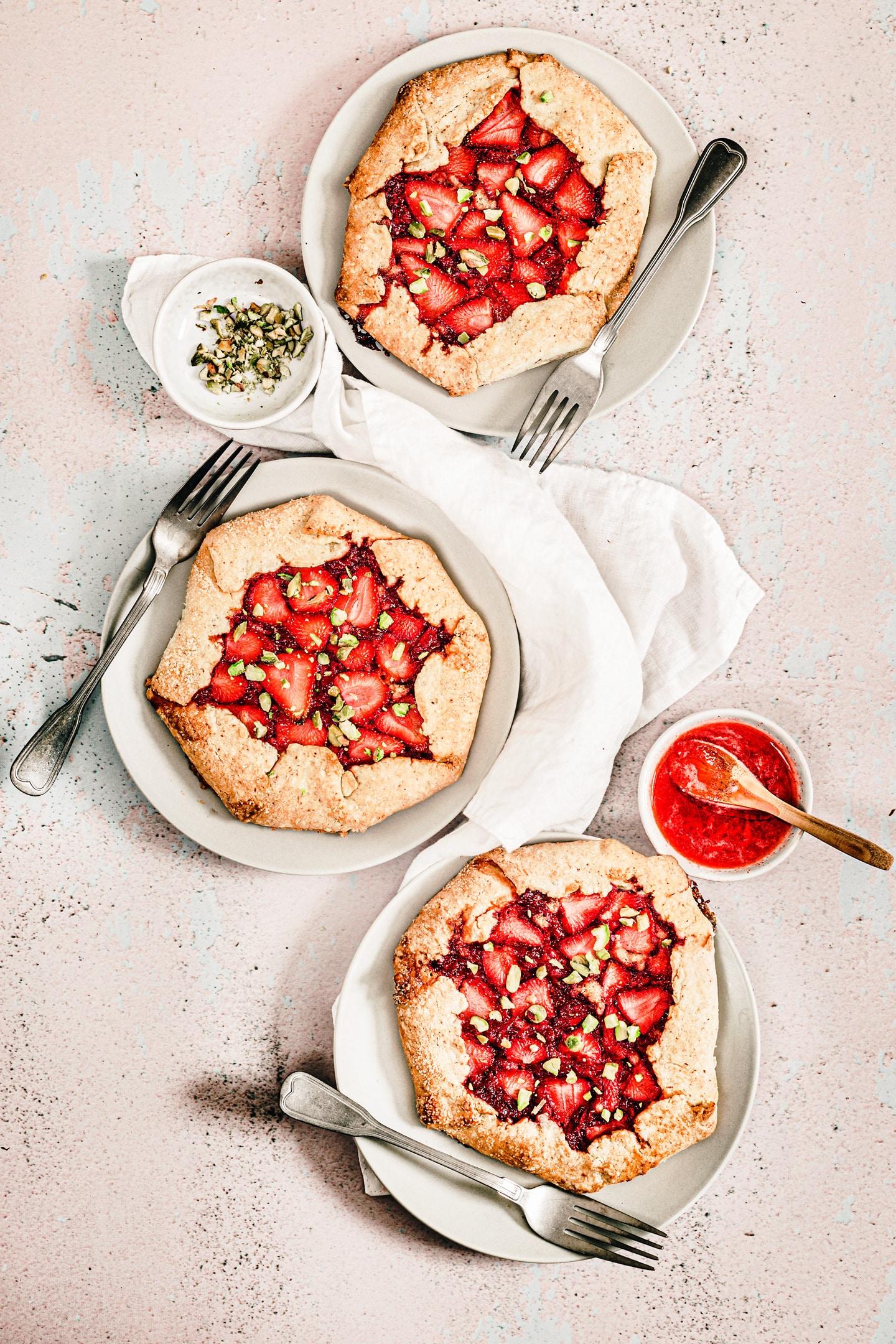 Tarte rustique aux fraises facile et rapide