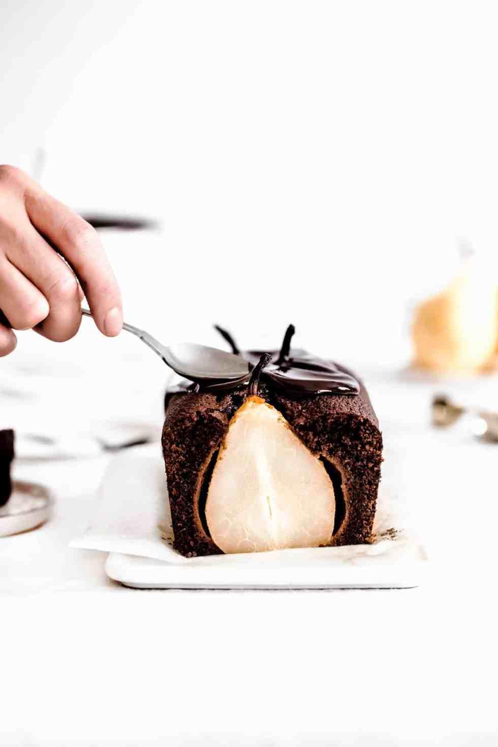 Pear chocolate dessert