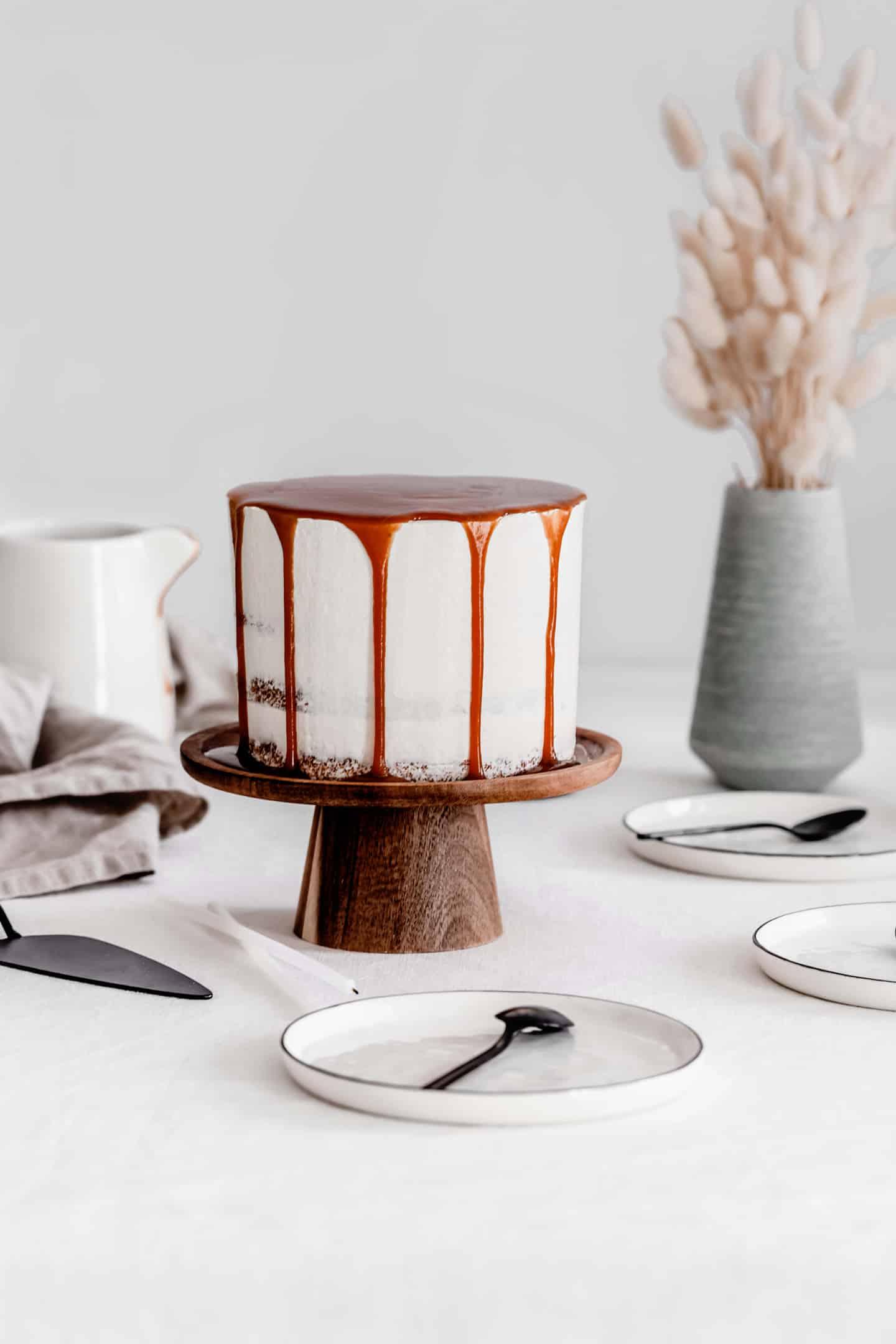 Layer cake vanille et caramel salé