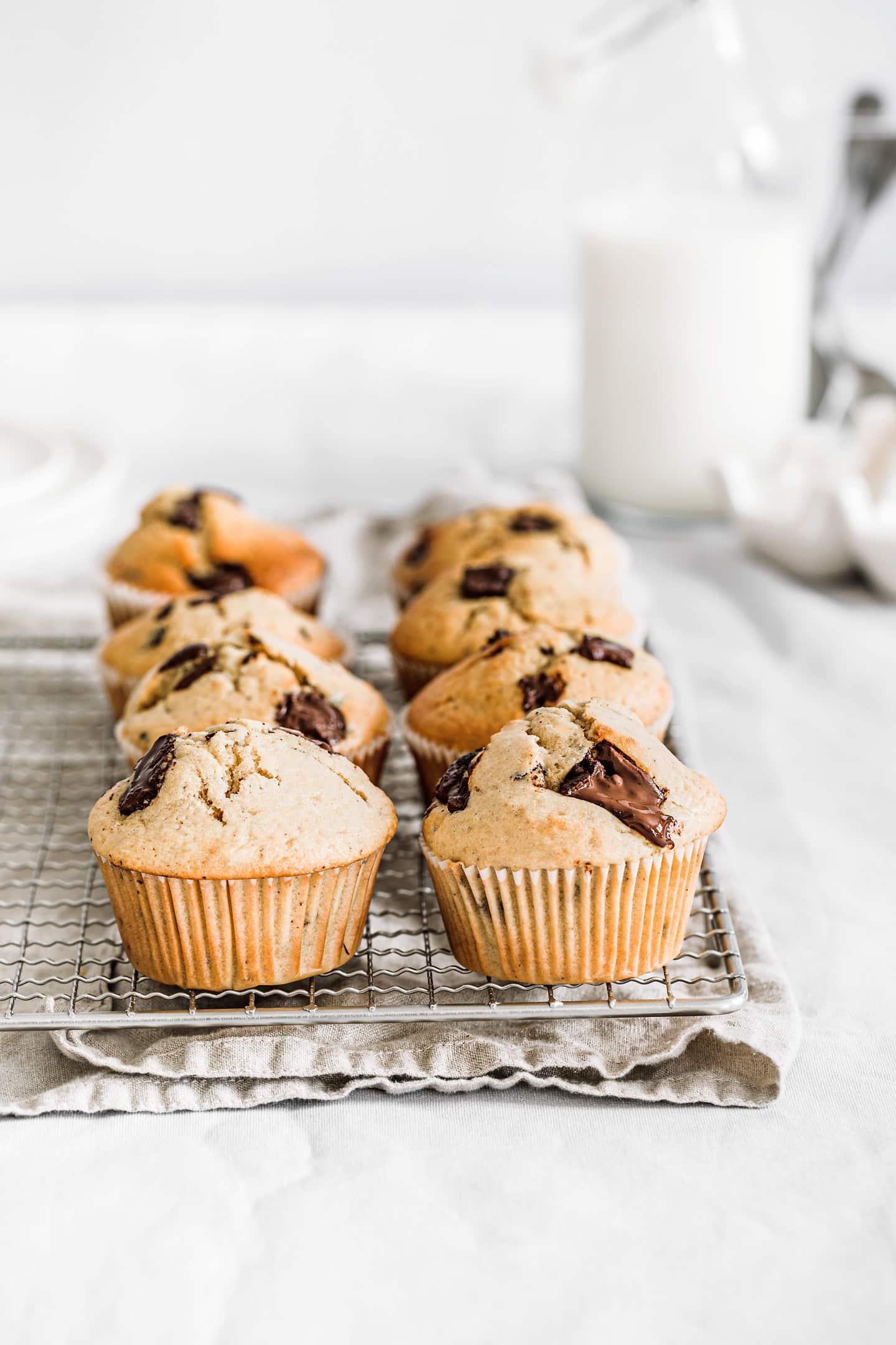 Muffins moelleux aux pépites de chocolat