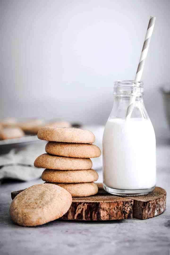 shortbread snickerdoodle cookies