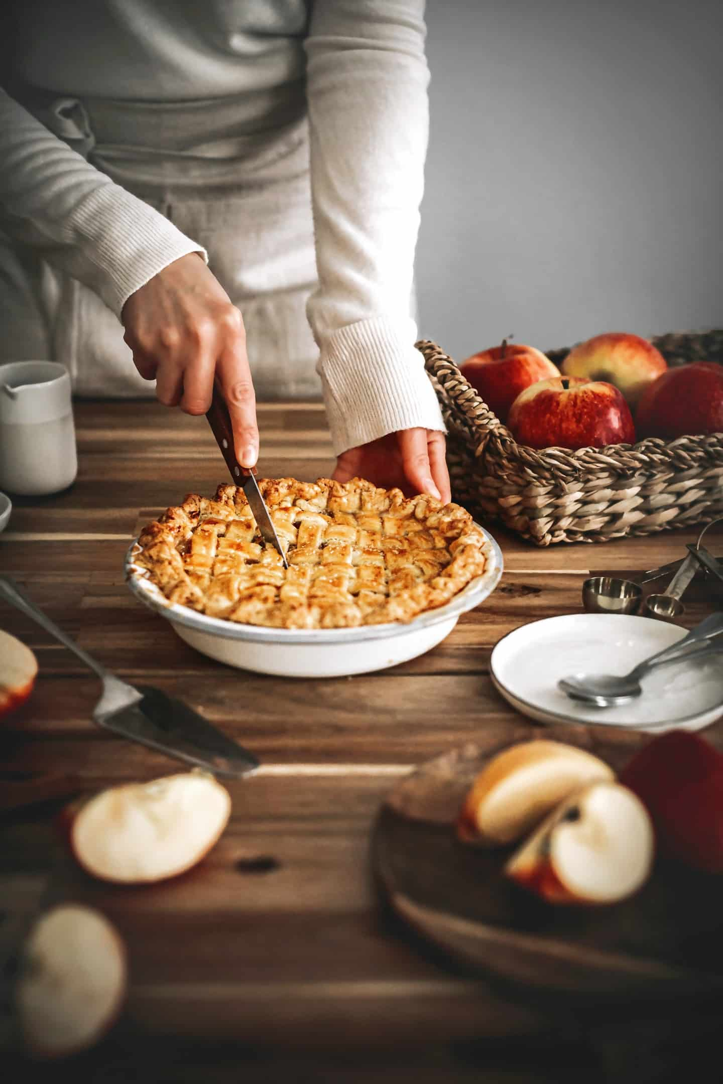 La tourte aux pommes