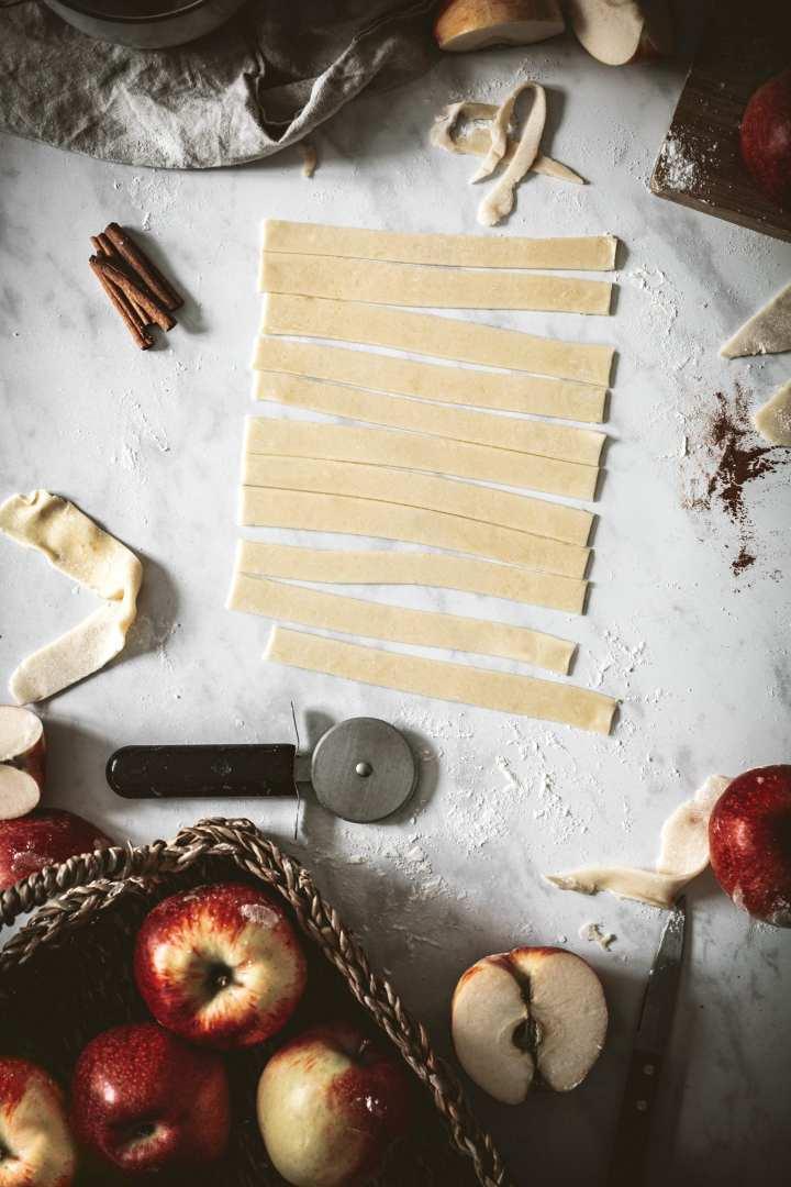 Décoration treillis pour la tourte aux pommes