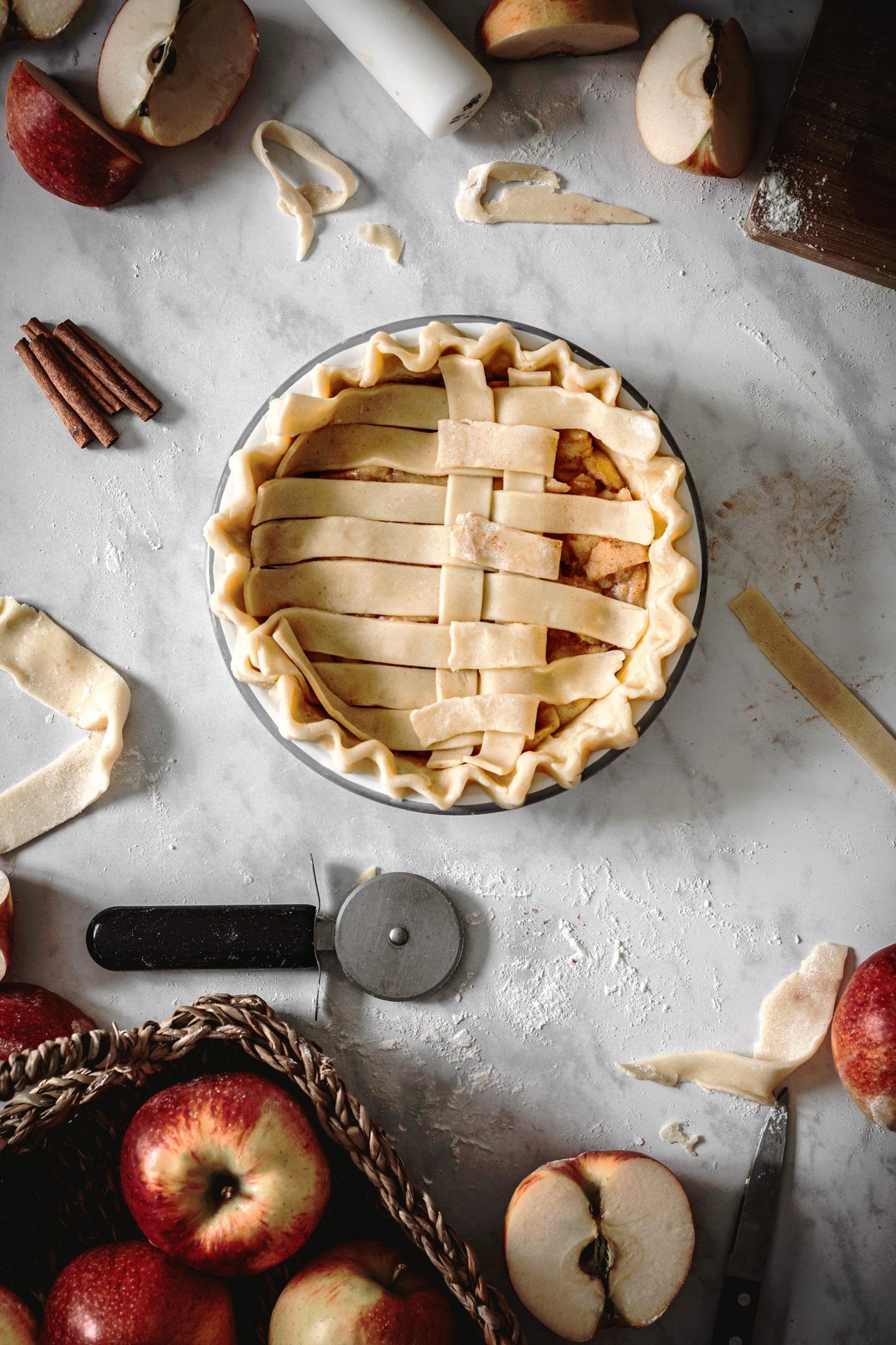 Comment décorer une tourte aux pommes